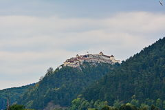 View of the medieval fortress of Rasnov. Royalty Free Stock Images