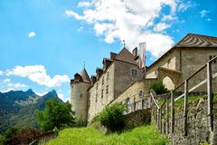 Castle of Gruyere Royalty Free Stock Images