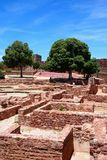 Medieval castle ruins in the courtyard, Silves, Portugal. View of the Medieval ruins in the courtyard inside the castle, Silves, Portugal, Europe Stock Photo