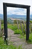 View of medieval settlement in Slovakia Royalty Free Stock Image