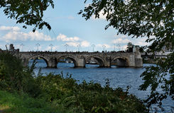View on the medieval St. Servaas bridge of Maastricht Stock Photo