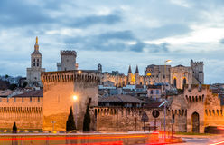View of medieval town Avignon at morning Royalty Free Stock Photos