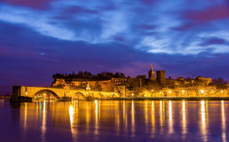 View of medieval town Avignon at morning, UNESCO world heritage Royalty Free Stock Image