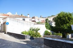 View of medieval town Obidos on a beautiful summer day.  Royalty Free Stock Photography