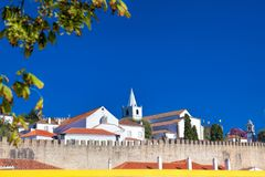 View of medieval town Obidos on a beautiful summer day.  Stock Photography