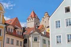 View of medieval town Regensburg. Germany. royalty free stock image