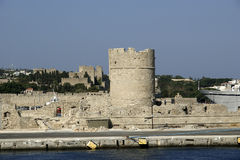 View of the medieval town of Rhodes Stock Image