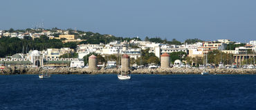 View of the medieval town of Rhodes Royalty Free Stock Images