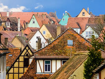 View of the medieval town Rothenburg. View of the medieval town. Rothenburg, Bavaria, Germany Royalty Free Stock Photos