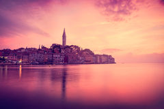 View of Medieval Town Rovinj in Croatia Stock Image