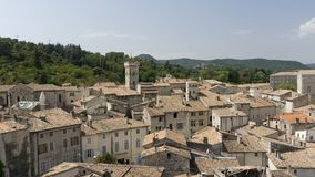 View of the medieval town of Viviers France Stock Photos