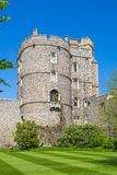 View at the medieval Windsor Castle, built 1066 by William the Conqueror. Official residence of Queen. Berkshire, England UK stock photo