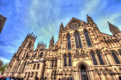York Minster Cathedral. Great Britain. stock photos