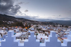 View of medina blue town Chefchaouen, Morocco Stock Photography