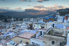 View of medina blue town Chefchaouen, Morocco.  Stock Photo