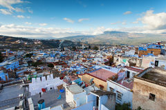 View of medina blue town Chefchaouen, Morocco Royalty Free Stock Photos