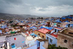 View of medina blue town Chefchaouen, Morocco Royalty Free Stock Images