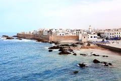 View of medina Essaouira and Atlantic ocean, Morocco royalty free stock photo