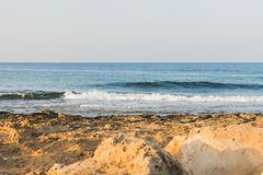 View on the Mediterranean coast. In Ayia NAPA in Cyprus Royalty Free Stock Image