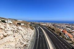 Mediterranean highway (autovia del Mediterraneo), Benalmadena - Andalusia - Spain Stock Image