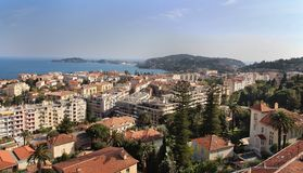 View of Mediterranean resort Royalty Free Stock Photography
