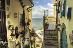 Dreaming Views in Sperlonga, Italy Royalty Free Stock Images