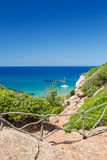 View on Mediterranean sea from Cami de Cavalls Stock Image