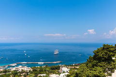 View of Mediterranean Sea on Capri island Royalty Free Stock Photo
