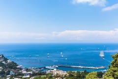 View of Mediterranean Sea on Capri island Stock Photo