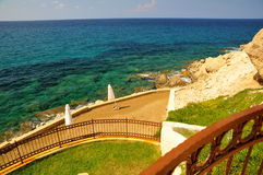 View of the Mediterranean Sea -  Cyprus Royalty Free Stock Photo