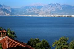 View of Mediterranean sea, Antalya stock photography