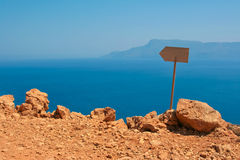 View of Mediterranean sea from island of Crete Stock Images