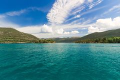 View of Mediterranean sea on summer day Royalty Free Stock Photography