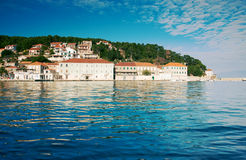 View of mediterranean town. On the shore Royalty Free Stock Photos