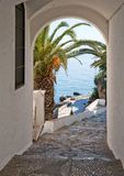 View of of MediterraneanSea through Arch Royalty Free Stock Photo
