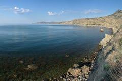 View on Meganom peninsula and Lisya bay in Crimea Stock Photo