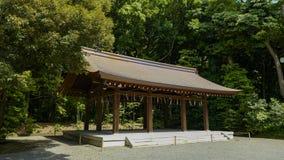 View of Meiji shrine, located in Shibuya, Tokyo. Tokyo, Japan, 2rd, June, 2017. View of Meiji shrine, located in Shibuya, Tokyo, is the Shinto shrine that is stock photography