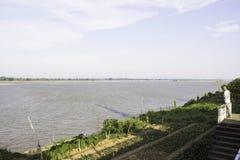 View Mekhong River Wat Phra That Tha Uthen Nakhon Phanom Royalty Free Stock Photo