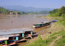 View of the Mekkong in Laos Royalty Free Stock Photos