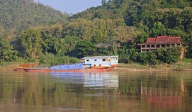 View of the Mekkong in Laos Royalty Free Stock Image