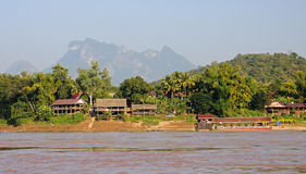 View of the Mekkong in Laos Stock Photo