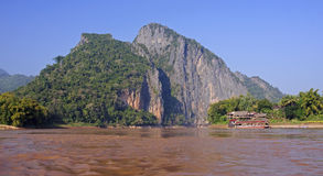 View of the Mekkong in Laos Stock Images