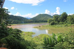View on the Mekong,Laos royalty free stock photography
