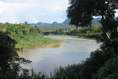View on the Mekong,Laos stock photo