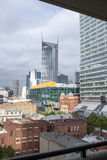 View of Melbourne City from Balcony on Russell Street. Stock Images