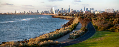 View Melbourne city - Victoria - Australia Stock Photos