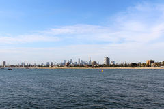 View of Melbourne from St Kilda Pier Stock Photography