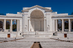 View of the Memorial Amphitheater. At arlington cemetery royalty free stock photos