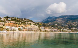 View of Menton city, French Riviera, France Royalty Free Stock Photography