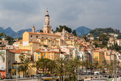 View of Menton city, French Riviera, France Stock Image